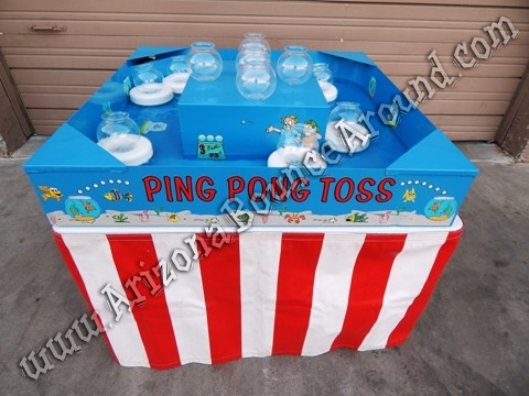 Ping Pong Toss carnival game rentals Phoenix