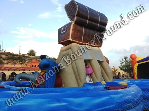 Pirate themed Inflatable obstacle course rental Phoenix