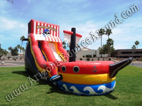 Pirate themed water slide rental Phoenix
