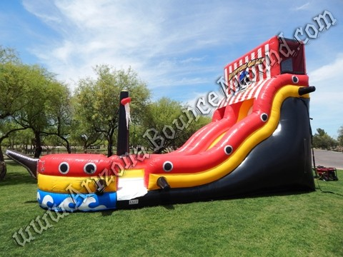 Pirate themed water slide rental