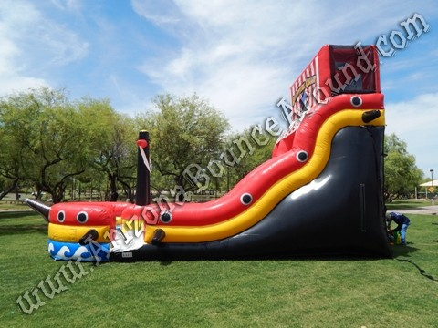 Pirate themed water slide rentals in AZ