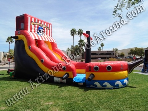 Pirate themed water slide rentals in Arizona