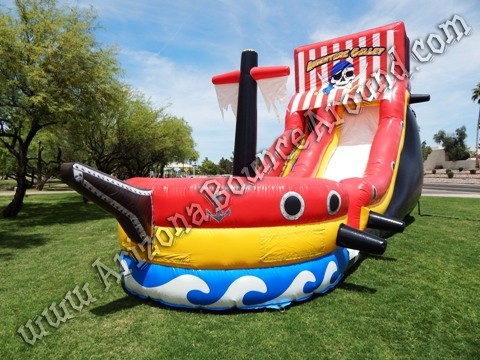 Pirate themed water slide rentals