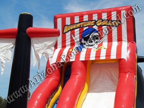 Pirate themed water slides for rent in Chandler AZ