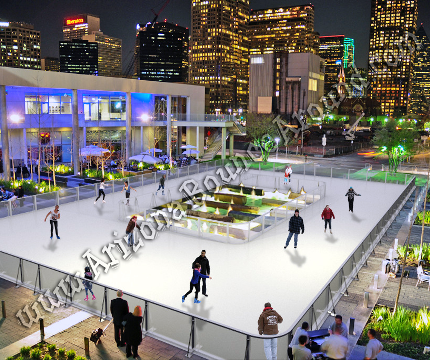 Portable Ice Skating Rink Rental Synthetic Ice Rink