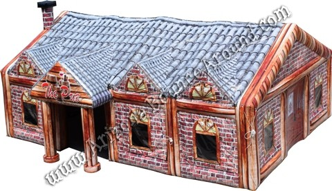 Inflatable Log Cabin Rentals Santas Workshop Rental