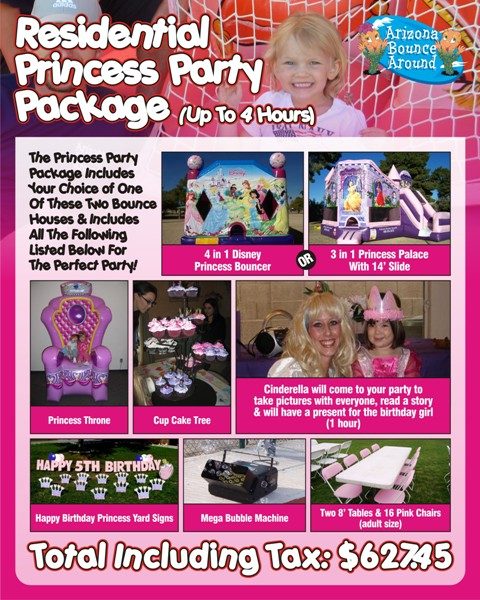 ... Rentals, Rent a Princess bouncy House or Moonwalk, Phoenix, Scottsdale