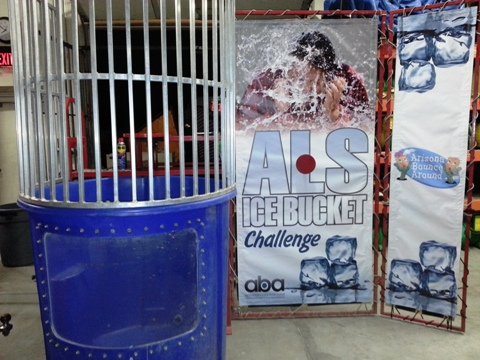 Rent a dunk tank for the ice bucket challenge Arizona