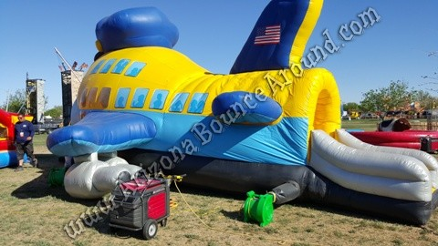 Rent a jumbo jet bounce house for airplane parties in Arizona