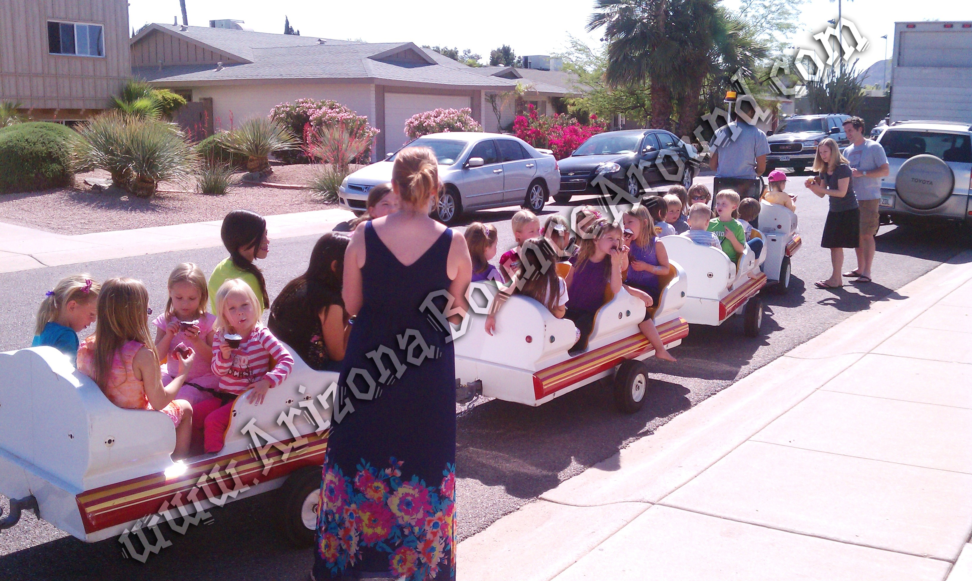 Rent a trackless train in Phoenix