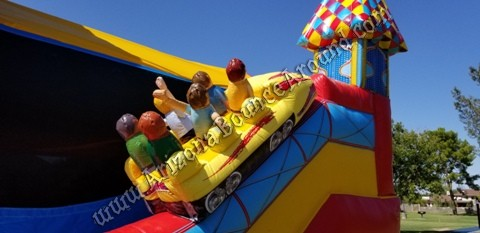 Roller Coaster Themed Inflatables for rent in Phoenix Arizona