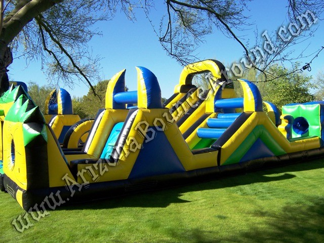 Shockwave inflatable obstacle course rental Phoenix Arizona