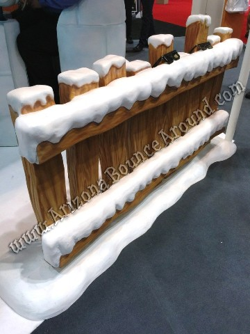 Snow Covered Fence Prop Rentals in Arizona