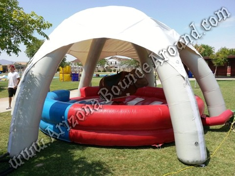 Tent to cover mechanical bulls