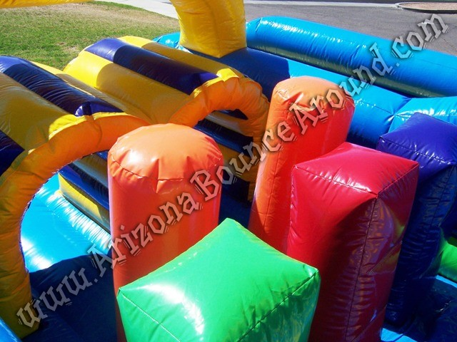Vertical rush inflatable obstacle course for rental Phoenix Arizona