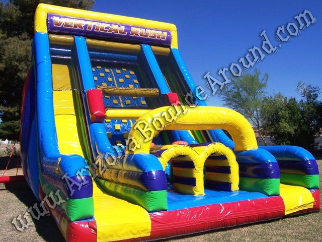 Vertical rush inflatable obstacle course rental Phoenix AZ