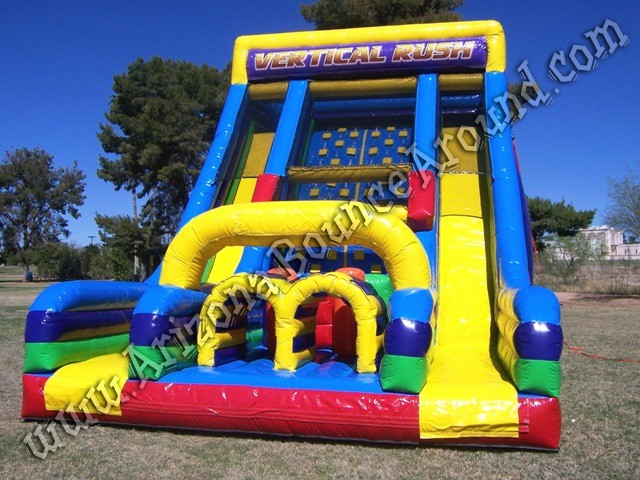 Vertical rush inflatable obstacle course rental Phoenix Arizona, California