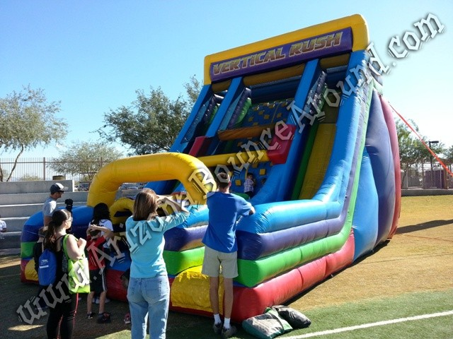 Vertical rush inflatable obstacle course rental Phoenix Arizona