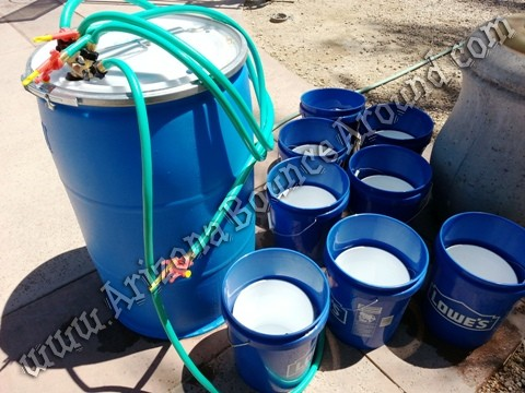 Water balloon filling stations