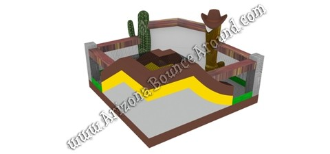 Western Themed Bounce Houses for rent in Phoenix Arizona