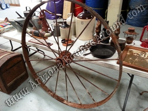 Western Wagon wheel prop rental
