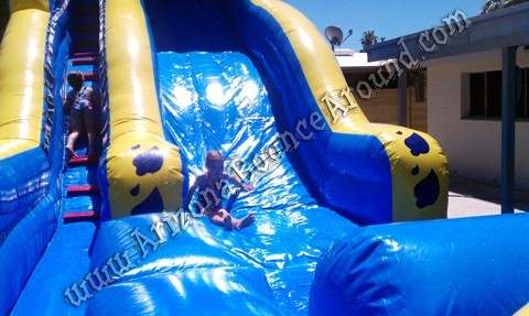 Wipe out water slide rental AZ
