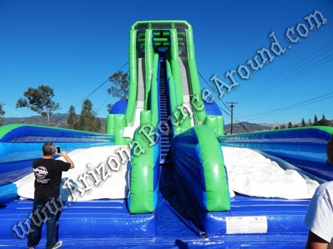 Worlds tallest inflatable water slide