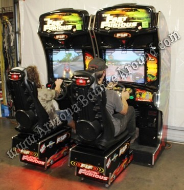 Sit Down Race Car Arcade Game For Sale