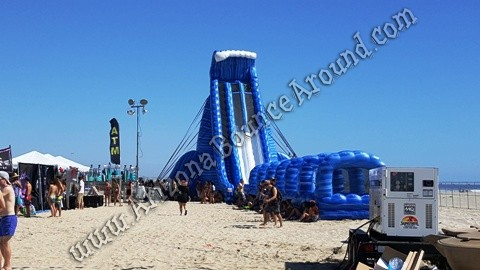 big dual lane water slide rentals California