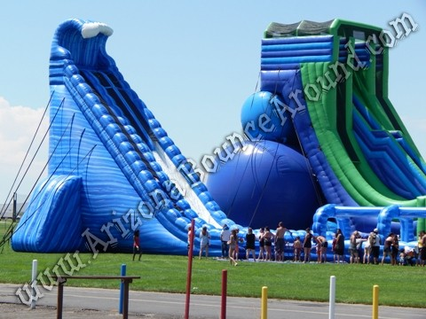 Dual Lane 42' Tall Water Slide Rental - Big Inflatable Water