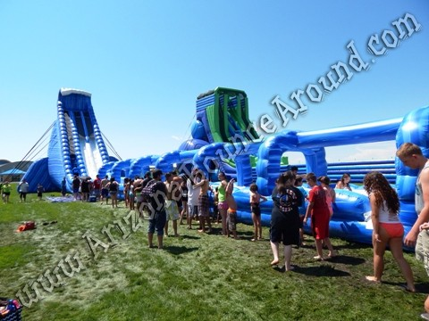 big dual lane water slide rentals for parties