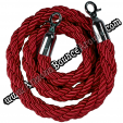 braided stanchion red rope rental