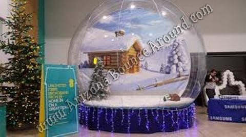 human snow globe rental Arizona