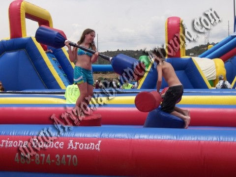 Rental Joust inflatable, Gladiator Joust rental, joust poles for rent Phoenix Arizona
