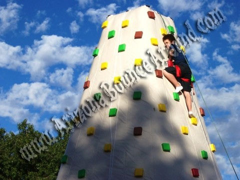 26' Tall Inflatable Rock climbing wall Rental in Phoenix Arizona