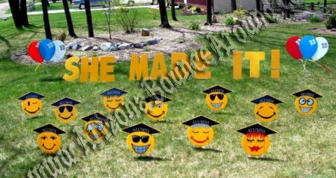 Graduation yard signs and party decorations in phoenix and scottsdale