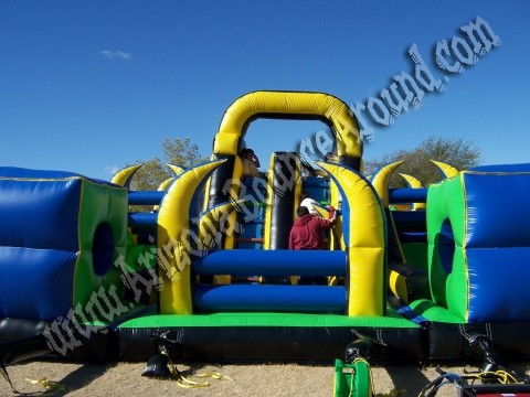 big inflatable obstacle course rental in phoenix, Arizona