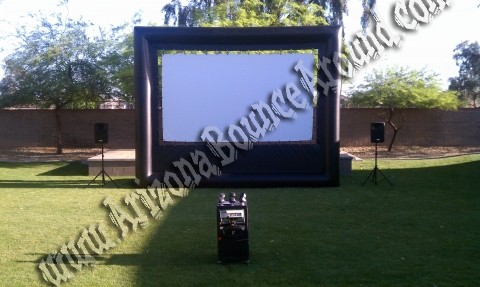 Perfect for movie night or dive in movies by the pool. Our outdoor movie  screen rental is a huge sealed air movie screen perfect for almost any movie  night - Inflatable Outdoor Movie Screen Rental Phoenix AZ, Outdoor Movie