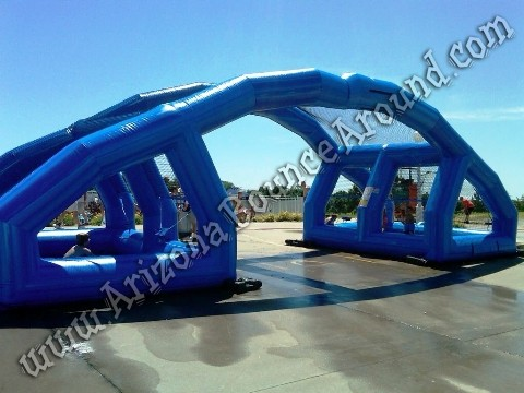 water balloon battle inflatable rental- water wars game