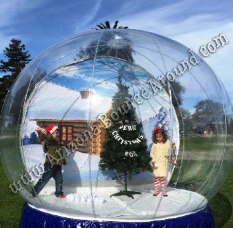 10.5 Foot Human Snow Globe with Blowing Snow Inside