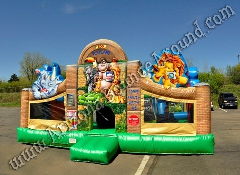 Zoo Themed Bounce House Rental Phoenix AZ Inflatable Zoo Rentals AZ