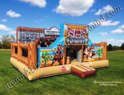 Western Themed Bounce House Rentals Western Birthday Party