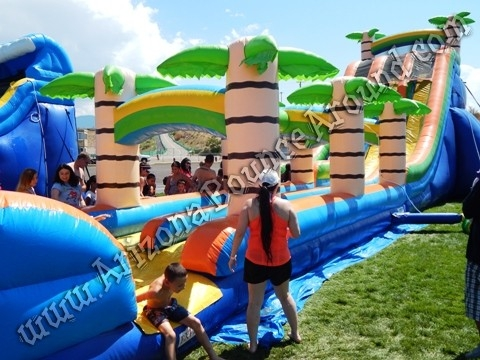 24' Dual Lane Tropical Water Slide Rental