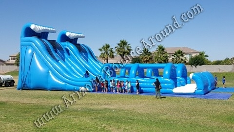 24' Tall Dual Lane, Dual Climb Water Slide Rental
