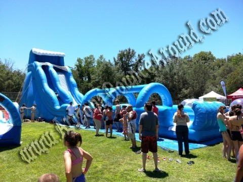 27' Tall Water Slide with Slip & Slide Attached