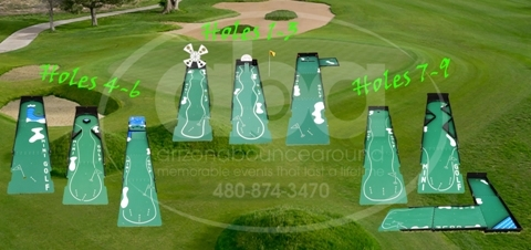 3 Hole Putting Course Rental