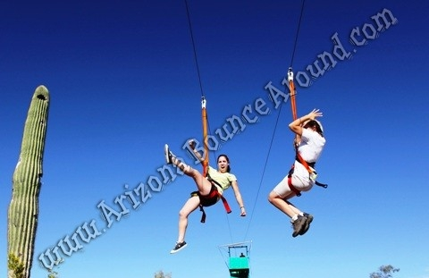 300 Foot Fly Wire Zip Line Rental