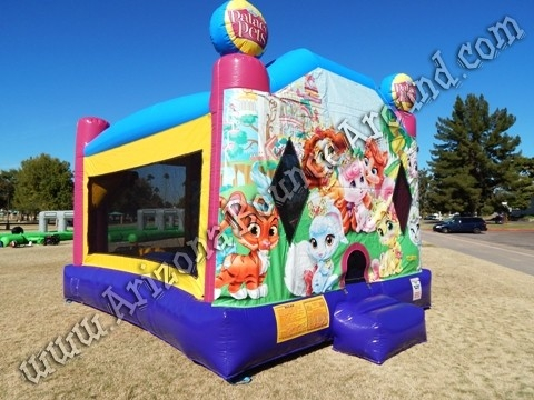 4 & 1 Palace Pets Bounce House rental with 14' slide and basketball hoop