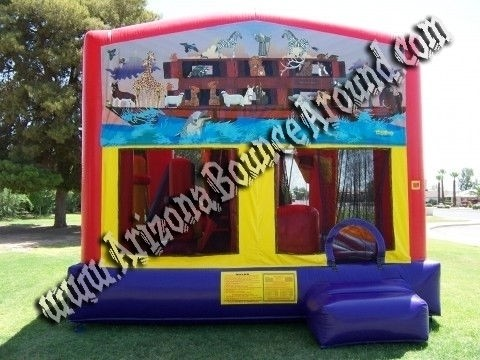 5&1 CYT Noahs Ark Bounce House with 14' Slide, Basketball Hoop and Obstacle Course Inside