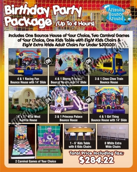 Boys and Girls Birthday Party Rentals Packages Under $300